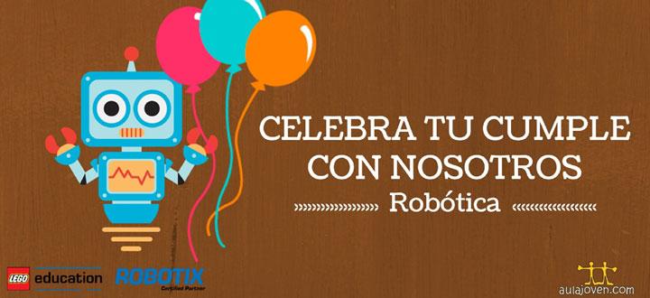Cumpleaños y robótica con Aula Joven