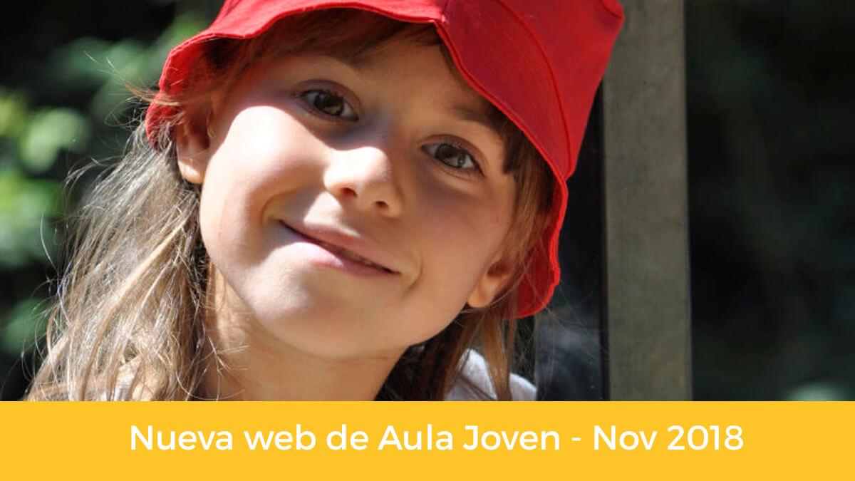Nueva página web de Aula Joven